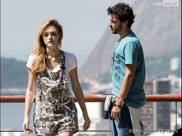 "Pedro (Jayme Matarazzo) briga - de novo - com Júlia (Isabelle Drummond) em ""Sete Vidas"""