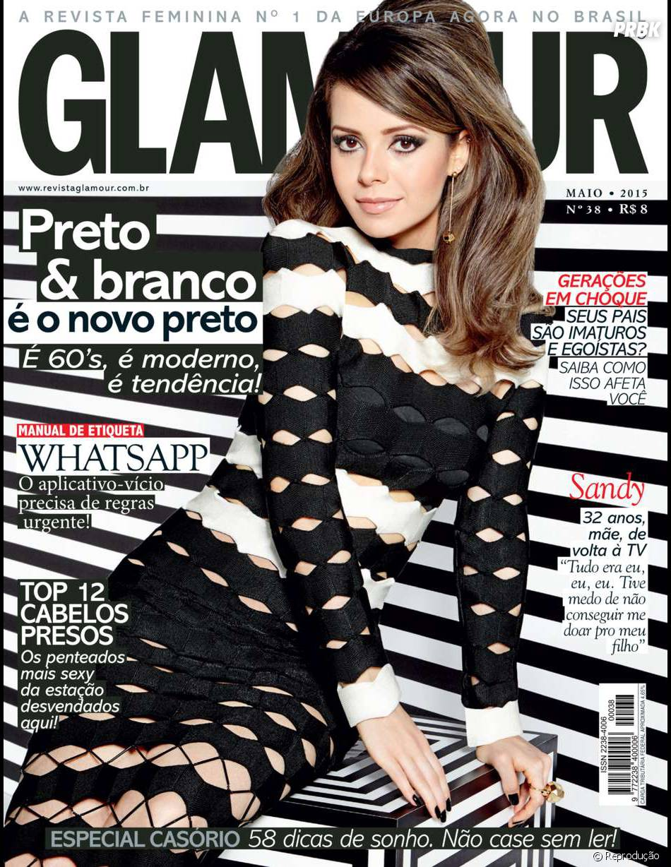 Sandy faz ensaio para edição de maio da revista Glamour