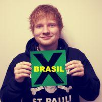"""Ed Sheeran participa do """"Mais Você"""" e fala sobre a experiência de tocar no Brasil: """"Maravilhoso!"""""""