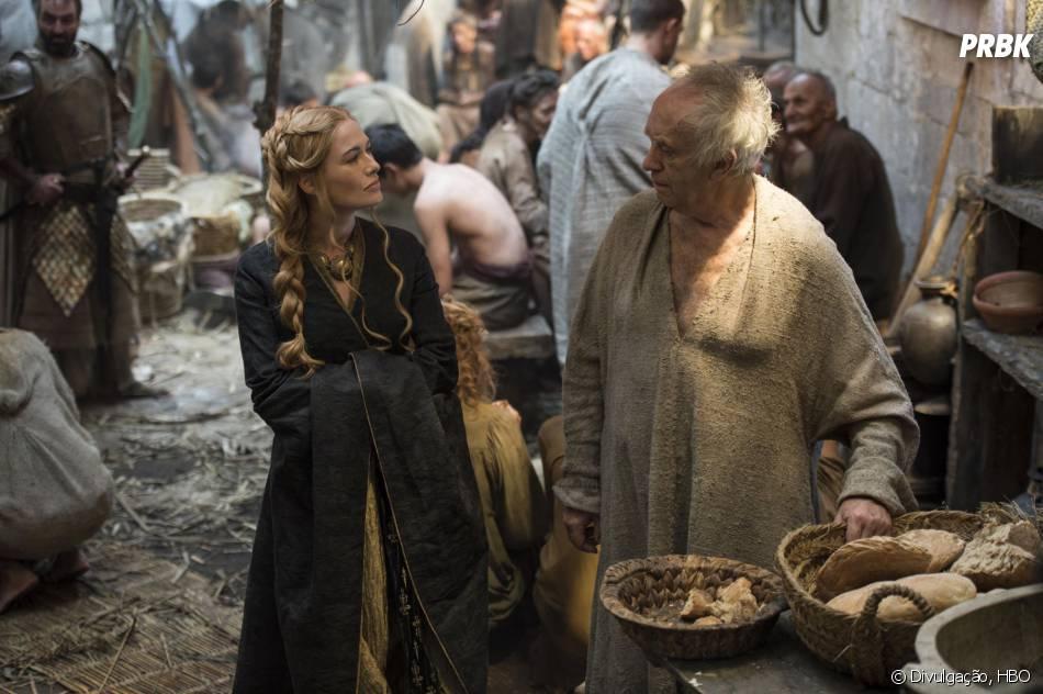 """Em """"Game of Thrones"""", Cersei (Lena Headey) começou a trabalhar ao lado de High Sparrow (Jonathan Pryce) e os dois criaram um exército letal"""