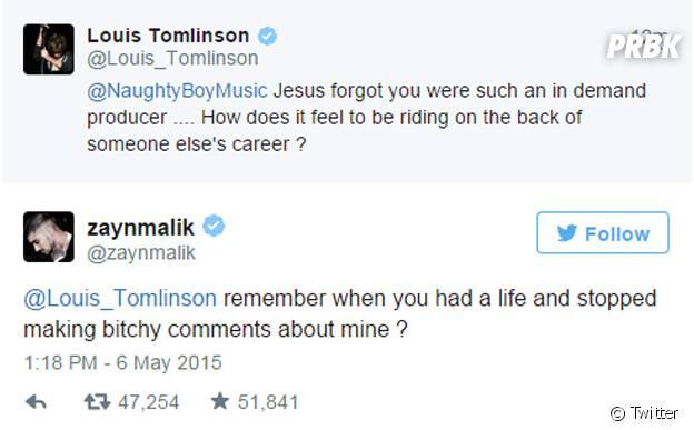 Do One Direction, Louis e Zayn tretam no Twitter