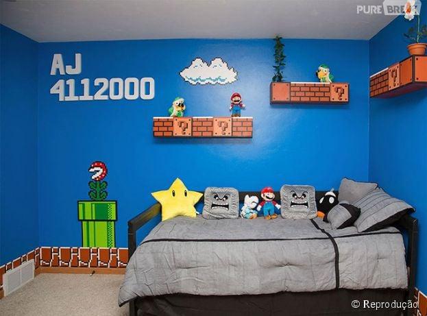"""Esse quarto temático do """"Super Mario"""" é incrível!"""