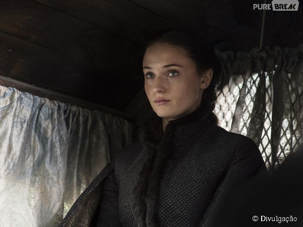 """Sansa Stark (Sophie Turner), em """"Game of Thrones"""", casou e teve uma das sequências mais aterrorizantes da 5ª temporada"""