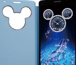 """O smartphone """"LG DM-01G"""", da LG, possui relógio digital do Mickey"""