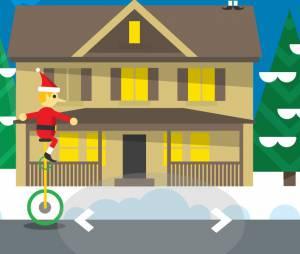 O site que funciona só no Chrome é uma experência interativa quenarra uma busca pelo Papai Noel