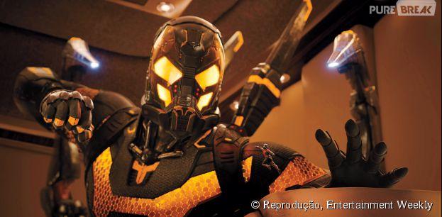 """Em """"Homem-Formiga"""", o vilão Jaquelta Amarela é interpretado pelo astro Corey Stoll"""