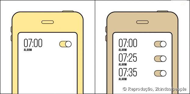 Você acorda assim que o seu celular desperta ou deixa ele tocar mais?