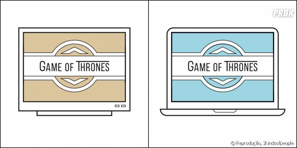 Você prefere assistir série pela tv ou pelo computador?