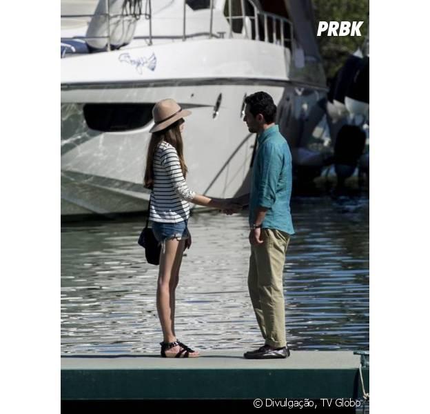 """Angel (Camila Queiroz) descobre que Alex (Rodrigo Lombardi) é pai de Giovanna (Agatha Moreira) em """"Verdades Secretas"""""""