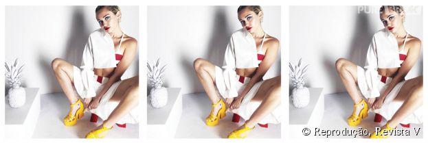 Miley Cyrus tira a roupa na edição de julho da revista V. Quer ver?