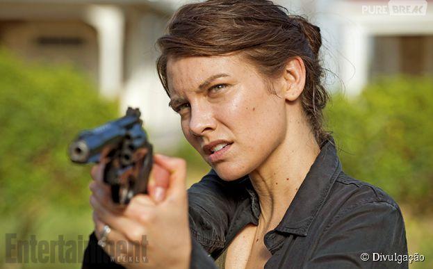 "Maggie (Lauren Cohan) pronta para batalha na próxima temporada de ""The Walking Dead"""