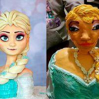 """Bolo bizarro de """"Frozen"""" viraliza na web depois de desabafo de pai! Veja outros doces bem estranhos!"""