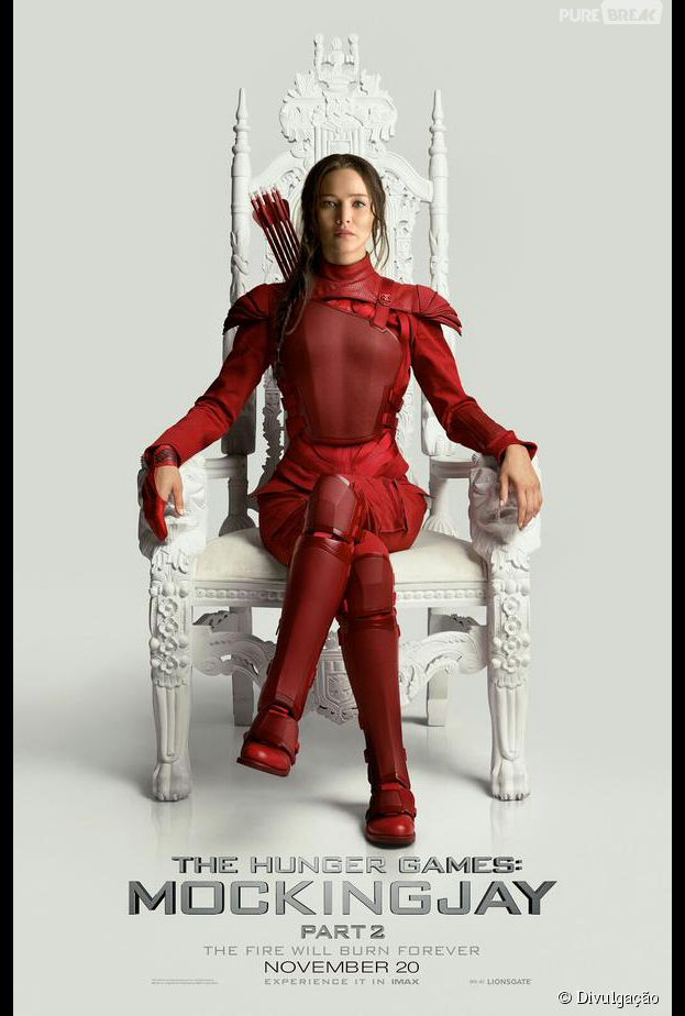 """A Katniss (Jennifer Lawrence) aparece mais incrível do que nunca em uma nova imagem de """"Jogos Vorazes: A Esperança - Parte 2"""""""