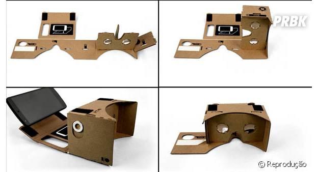 Google Cardboard pode ser comprado ou feito em casa