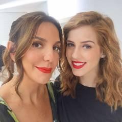 """Sophia Abrahão e Ivete Sangalo posam juntas nos bastidores do programa """"Superbonita"""""""