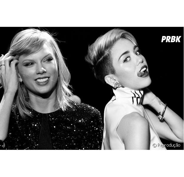 "Miley Cyrus zoa Taylor Swift com Justin Bieber no Instagram e intérprete de ""Bad Blood"" responde a brincadeirinha"