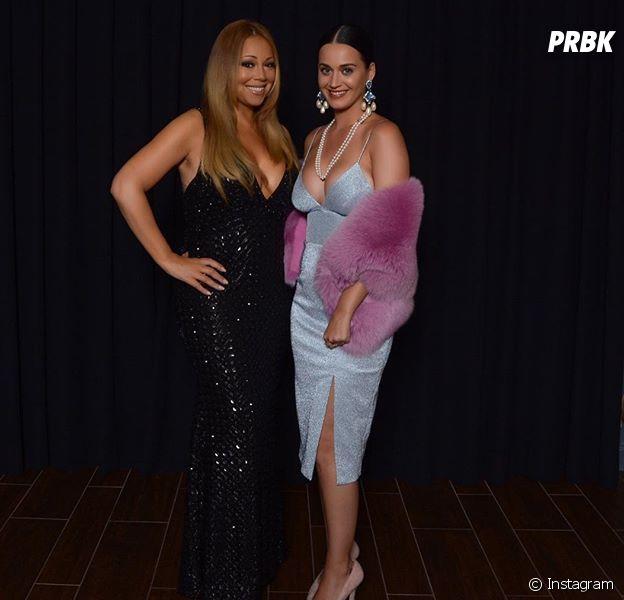 """Katy Perry e Mariah Carey posam juntas e intérprete de """"Dark Horse"""" escreve legenda em português no Instagram"""