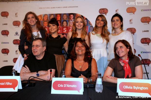 """Elenco de """"Confissões de Adolescente"""" se reúne em São Paulo para divulgar filme, nesta segunda-feira, 16 de dezembro de 2013"""
