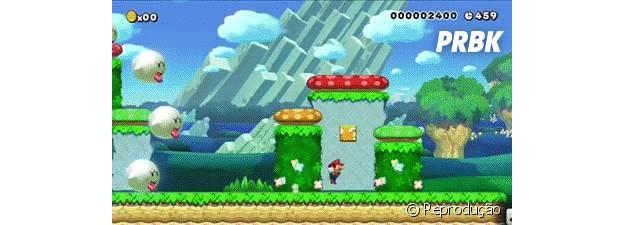 """""""Super Mario Maker"""" permite criar fases do universo """"Mario Bros."""", além de compartilhá-las pela internet"""