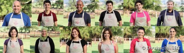 """Participantes do """"Bake Off Brasil - Mão na Massa"""", novo reality de culinária do SBT!"""