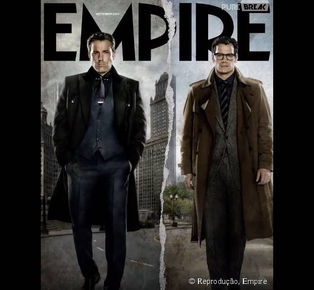 """Os protagonistas de """"Batman Vs Superman"""" estrelam a nova capa da revista Empire"""
