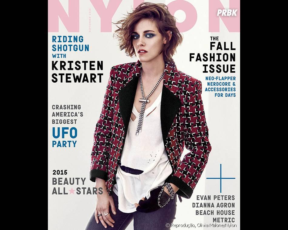 Kristen Stewart é a capa da edição de setembro da revista americana Nylon