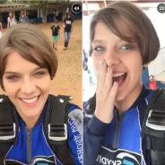 """Isabella Santoni, após """"Malhação"""", aproveita férias e salta de paraquedas com Gabi Lopes!"""