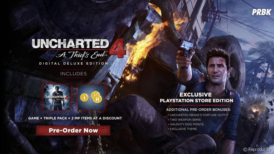 """Uncharted 4: A Thief's End"" terá uma Digital Deluxe Edition com bônus exclusivos"