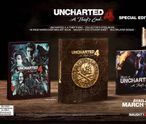 """Em dição especial, """"Uncharted 4: A Thief's End"""" virá com artbook, adesivos e caixa metálica"""