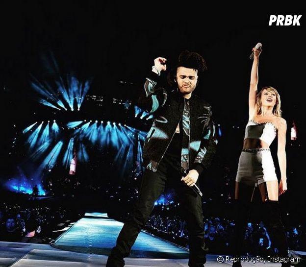 The Weeknd dança no show de Taylor Swift