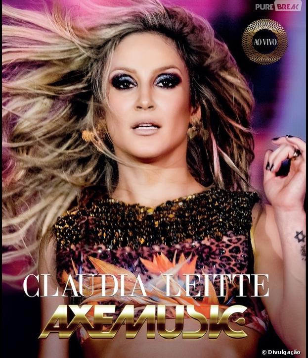 """Cláudia Leitte lança a capa do DVD """"AxéMusic - Ao Vivo"""""""