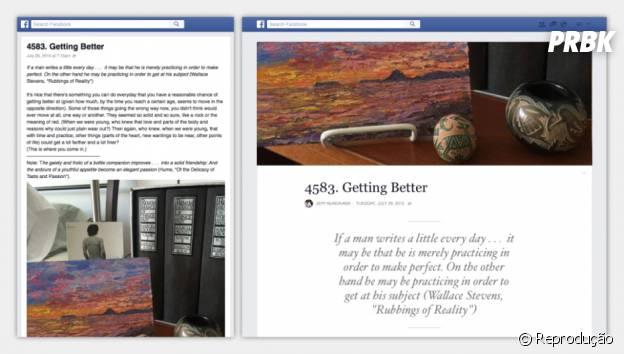 Confira o novo visual das Notas do Facebook: foto de capa e formatação de texto
