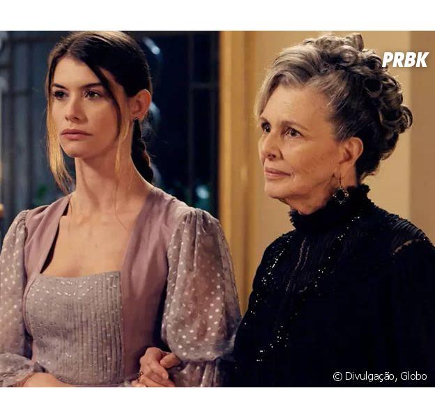 """Em """"Além do Tempo"""": Lívia (Alinne Moraes) é neta de Vitória (Irene Ravache)!"""