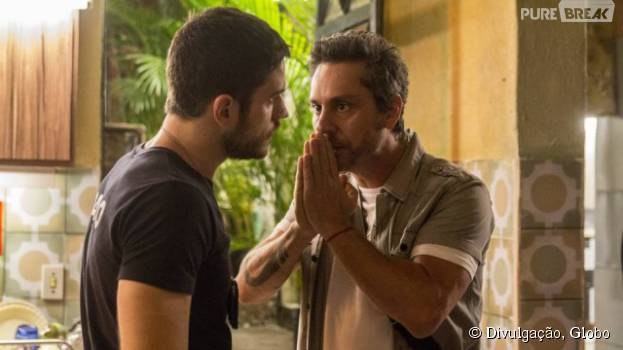 """Alexandre Nero e Marco Pigossi interpretam pai e filho, em """"A Regra do Jogo"""""""