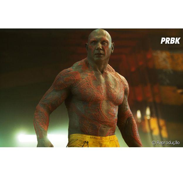 """Drax (Dave Bautista), em """"Guardiões da Galáxia"""""""
