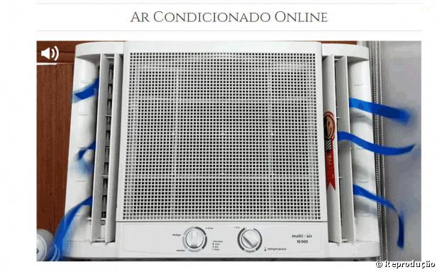Não é aplicativo, mas tem quem ache que só de olhar o Ar Condicionado Online, já dá pra se refrescar