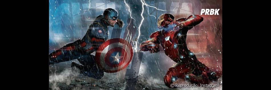 """Em """"Capitão América 3"""", o Capitão América (Chris Evans) e o Homem de Ferro (Robert Downey Jr.) vão se enfrentar"""