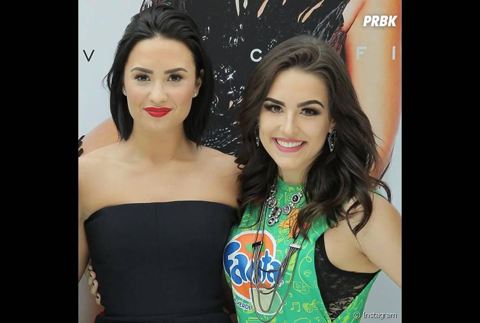 Em show de Demi Lovato, Kéfera aproveitou para tietar a cantora
