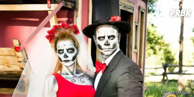 Tradicional do Halloween é a fantasia de Caveira, que tem tudo a ver com virginianos