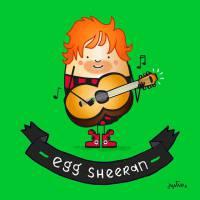 Ed Sheeran, Miley Cyrus, Rihanna e outros famosos ganham ilustrações que brincam com os seus nomes!