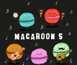 Já pensou em ir a um show do Macaroon 5? Com certeza ia ser muito delicioso!