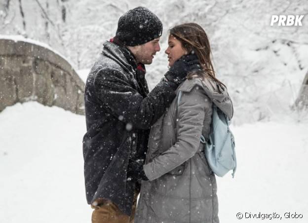 """Mari (Bruna Marquezine) e Ben (Maurício Destri) se reencontram em Nova York em """"I Love Paraisópolis""""!"""