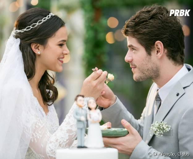 """Novela """"I Love Paraisópolis"""": Mari (Bruna Marquezine) e Ben (Maurício Destri) tiveram casamento dos sonhos!"""