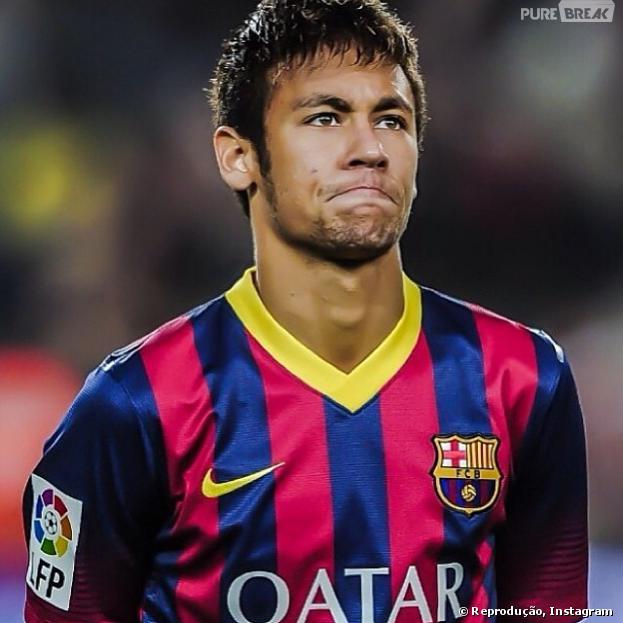 Neymar está com gastroenterite e por isso foi afastado da partida do Barcelona desta quarta-feira, 8 de janeiro de 2014