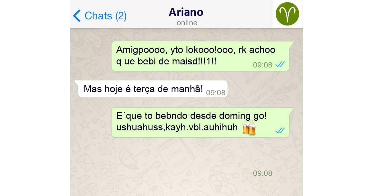 Signos no Whatsapp: Áries e sua fama de que adora bebida ...