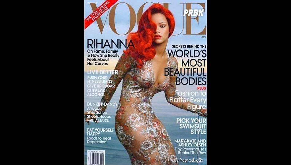 A primeira capa de Rihanna para a Vogue americana, a mais importante do mundo