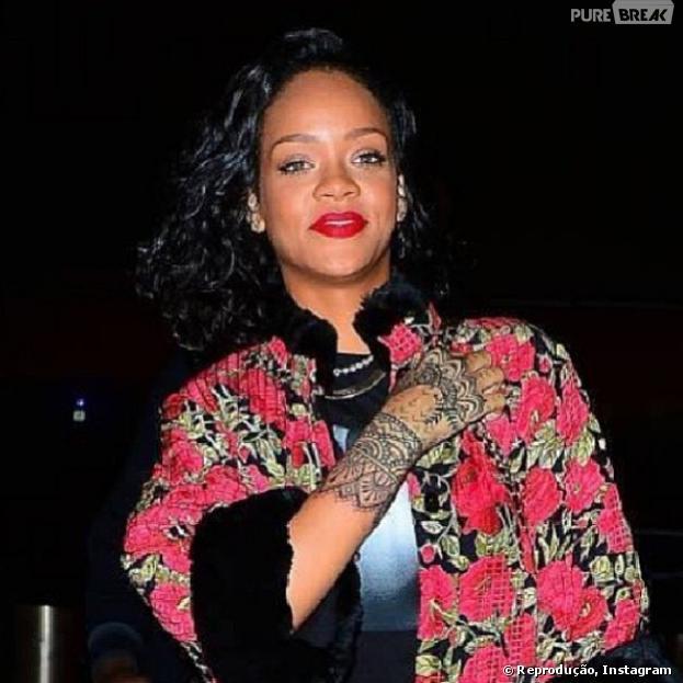 Rihanna já está em solo brasileiro. Cantora está hospedada no Rio de Janeiro