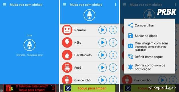 No Whatsapp: aplicativo Muda voz com efeitos