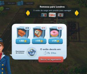 """Em """"SimCity Buildit"""": ao enviar as remessas, você ganha um item para a construção do bairro londrino"""