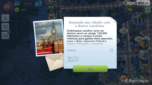 "O clima da cidade de Londres, na Inglaterra, chega ao game ""SimCity Buildit""!"